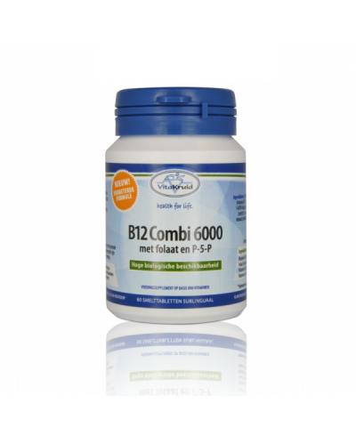 Vitakruid Vitamine B12 Combi met folaat & P5P 60 smelt tabletten