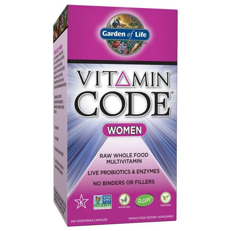 The vitamin code women extra groot met 240 capsules - Garden of life multivitamin for men ...