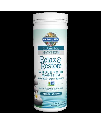 Dr Formulated Relax Restore Original 190g Magnesium Garden Of Life