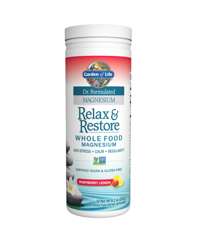 Dr. Formulated Relax & Restore Raspberry Lemon (230g) Magnesium - Garden of Life