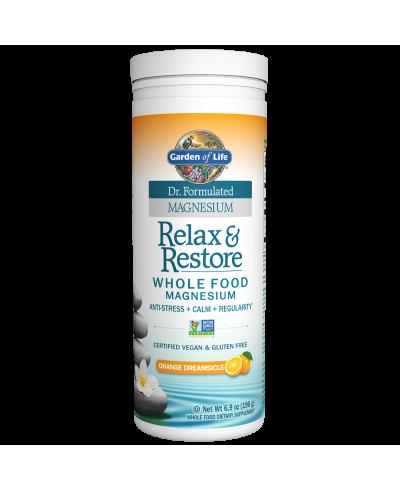 Dr. Formulated Relax & Restore Raspberry Lemon (230g) Magnesium - Garden of Life