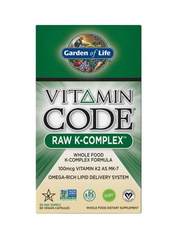 Vitamin Code Raw K-Complex (60 capsules) - Garden of Life