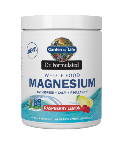 Dr. Formulated Whole Food Magnesium Raspberry Lemon (421,5g) - Garden of Life