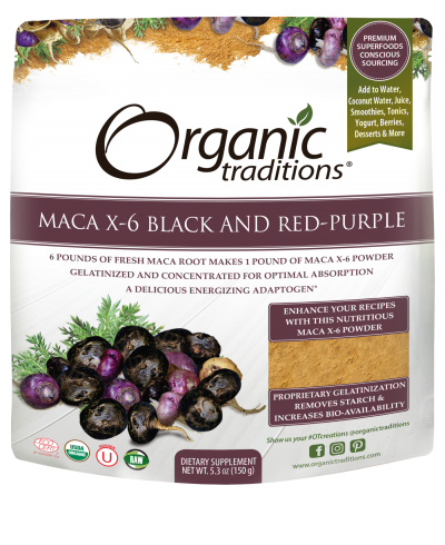 Organic Traditions Maca X-6 Black and Red-Purple (150 g)