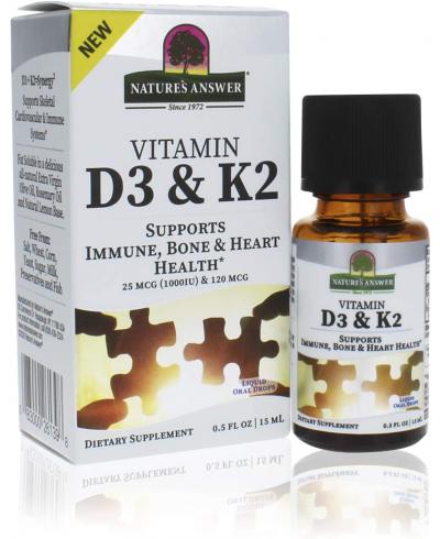 Vitamine D3 & K2 Nature's Answer Platinum | 250 dagen
