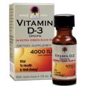 Vitamine D3 4000IU - 240 dagen - Volwassene of Kinderen - Nature's Answer Platinum
