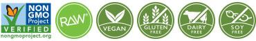 NON-GMO RAW Vegan Gluten-vrij Zuivel-vrij Soja-vrij